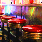 Diner - V2 - Horizontal Art Print by Wingsdomain Art and Photography