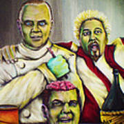 Diners Drive-ins And Fava Beans And Chianti Art Print
