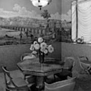 Dining Room In Helena Rubinstein's Home Art Print