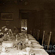 Dining Room Table Circa 1900 Art Print
