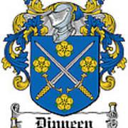 Dinneen Coat Of Arms Irish Art Print