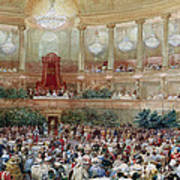 Dinner In The Salle Des Spectacles At Versailles Art Print
