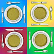 Dinner Setting Combo 05 Art Print