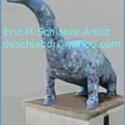 Dino The Bayville Dinosaur Art Print