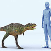 Dinosaur Aucasaurus Art Print