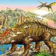 Dinosaur Panorama Art Print