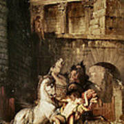 Diomedes Devoured By His Horses Art Print