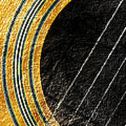 Diptych Wall Art - Macro - Gold Section 1 Of 2 - Vikings Colors - Music - Abstract Art Print