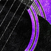 Diptych Wall Art - Macro - Purple Section 2 Of 2 - Vikings Colors - Music - Abstract Art Print