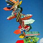 Directions Signs Art Print