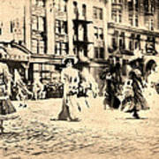 Directoire Gown - Philadelphia Mummers 1909 Art Print