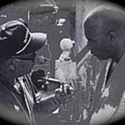 Director Martin Ritt And James Earl Jones Number 2 The Great White Hope Set Globe Arizona 1969-2013 Art Print