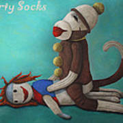 Dirty Socks 4 With Lettering Art Print