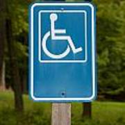 Disabled Parking Sign Art Print