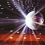 Disco Ball At Illuminated Nightclub Art Print