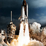 Discovery Hubble Launch Sts-31 Art Print