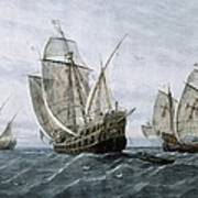 Discovery Of America 1492. The Caravels Art Print