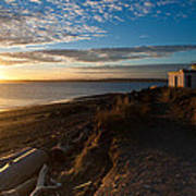 Discovery Park Lighthouse Sunset Art Print