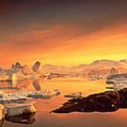 Disko Bay, Greenland Art Print
