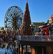 Disney California Adventure Christmas Art Print