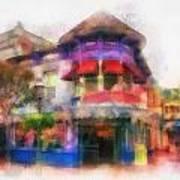 Disney Clothiers Main Street Disneyland Photo Art 01 Art Print