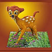 Disney Floral 03 Bambi Art Print