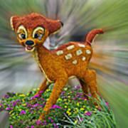 Disney Floral Bambi Art Print