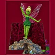 Disney Floral Tinker Bell 01 Art Print by Thomas Woolworth