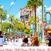 Disney Studios Walt Disney World Orlando Florida Art Print