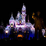 Disneyland Christmas Castle Art Print