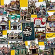 Disneyland Toontown Yellow Collage Art Print