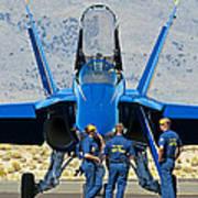 Display Debrief- Blue Angels Art Print