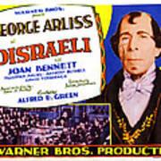 Disraeli, George Arliss On Title Card Art Print