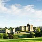 Distant Alnwick Castle Art Print