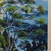 Distant Mountains Lake Art Print