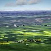 Distant Vista From Steptoe Butte Art Print