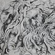 Distress Art Print by Moshfegh Rakhsha