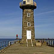Disused East Pier Lighthouse - Whitby Art Print