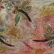 Rustic Dragonflies Pinks Art Print