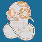 Diving Helmet Mark V Art Print