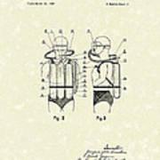Diving Unit 1949 Patent Art  Art Print by Prior Art Design