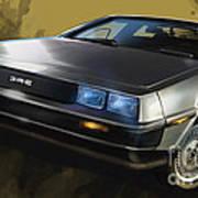 Dmc Sports Car Art Print