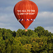 Do All To The Glory Of God Balloon Art Print