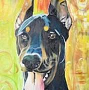 Doberman Art Print by PainterArtist FIN
