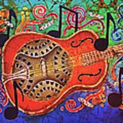 Dobro-slide Guitar-2 Art Print