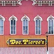 Doc Pierces Restaurant And Saloon Building Detail Art Print