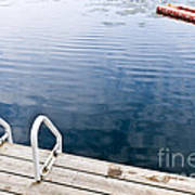 Dock On Calm Summer Lake Art Print