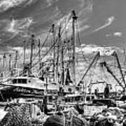 Docked Shrimper Art Print