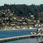Docks Of Yaquina Bay Art Print