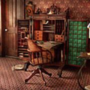 Doctor - Desk - The Physician's Office  Art Print